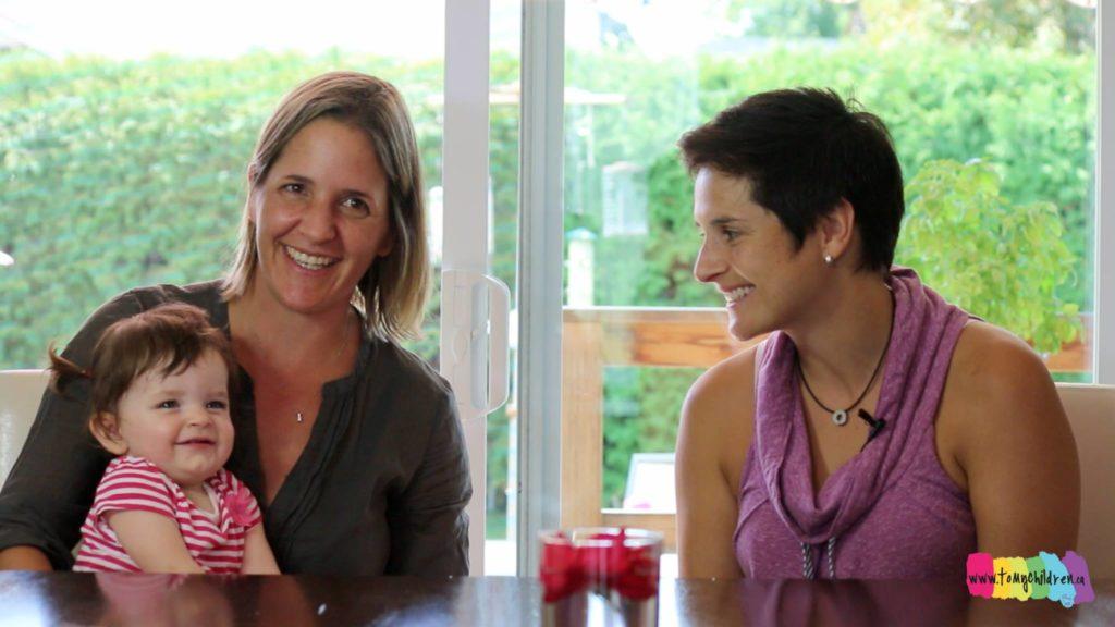 Image issue du documentaire A mes enfants,  documentaire sur les familles avec des parents LGBT à Montréal.